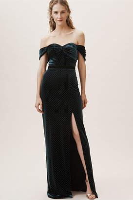 ML Monique Lhuillier Briana Velvet Dress