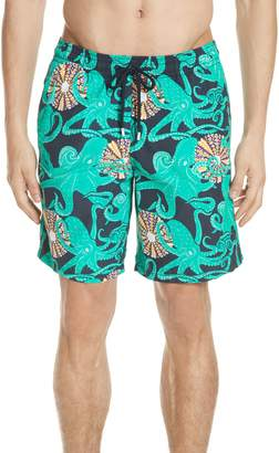 Vilebrequin Octopus & Shellfish Print Swim Trunks
