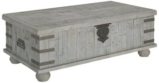 Gracie Oaks Altair Trunk Coffee Table with Storage Gracie Oaks