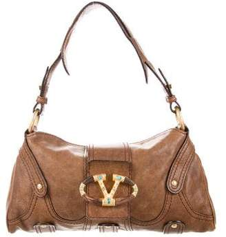 Valentino Leather Catch Bag