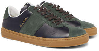 Paul Smith Levon Leather and Suede Sneakers - Navy
