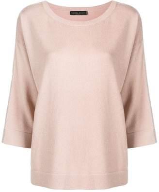 Fabiana Filippi contrast trim cashmere sweater