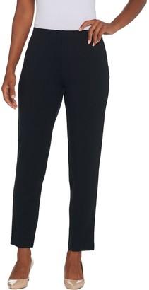 Brooke Shields Timeless BROOKE SHIELDS Timeless Regular Ponte Ankle Pants w/ Side Zip