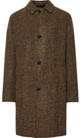 MP Massimo Piombo Douglas Textured Virgin Wool Coat