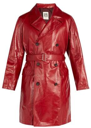 Connolly - Leather Trench Coat - Mens - Red