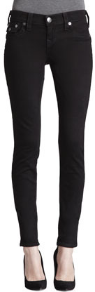 True Religion Misty Super Vixen Flap Pocket Low-Rise Super Skinny Jeans