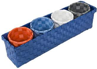 Honey-Can-Do 5 Piece Weave Plastic Organizer