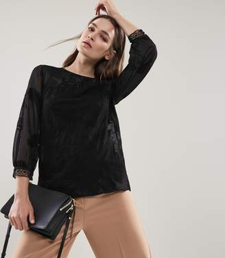 Reiss Rosie Floral Lace Top