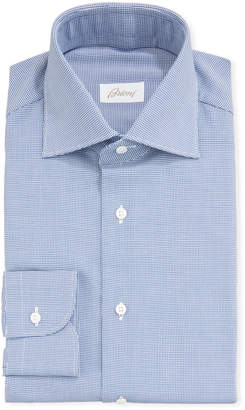 Brioni Men's Houndstooth Check Dress Shirt