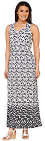 Liz Claiborne New York Petite Geo Border PrintMaxi Dress