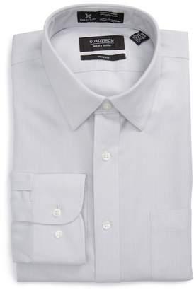 Nordstrom Smartcare(TM) Trim Fit Herringbone Dress Shirt