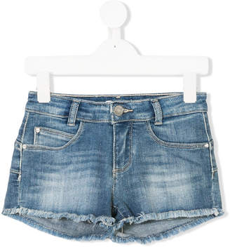 Liu Jo Kids frayed denim shorts