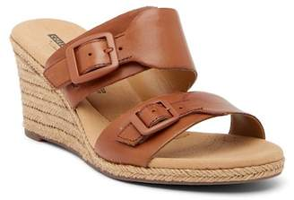 Clarks Lafley Devin Leather Wedge Sandal