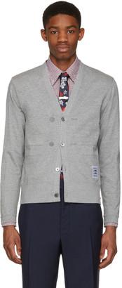 Thom Browne Grey Trompe L'Oeil Sport Coat Cardigan $1,090 thestylecure.com