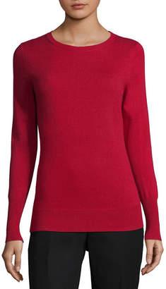 WORTHINGTON Worthington Womens Crew Neck Long Sleeve Pullover Sweater