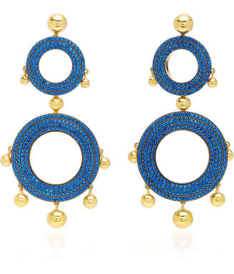 Joanna Laura Constantine Grommet Gold-Plated Brass and Cubic Zirconia Statement Earrings