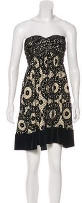 Diane von Furstenberg Strapless Mini Dress Black Strapless Mini Dress