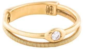 Marco Bicego 18K Diamond Two Row Ring