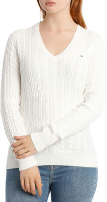 Tommy Hilfiger Im Ivy Cable V-Neck Sweater