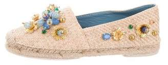 Dolce & Gabbana Embellished Round-Toe Espadrilles