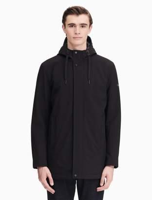 Calvin Klein soft shell mesh back zip hooded jacket