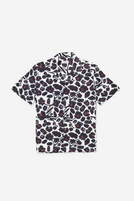Saturdays NYC Canty Water Floral Short Sleeve Shirt
