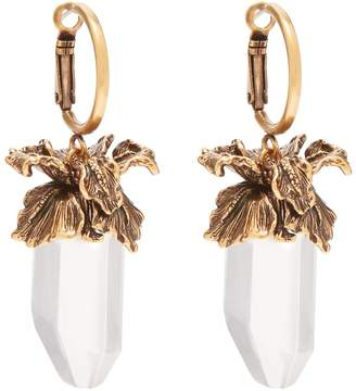 Alexander McQueen Iris pendant drop earrings