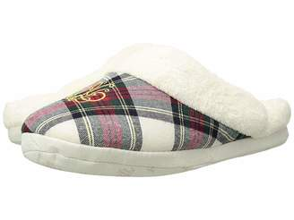 Lauren Ralph Lauren Cotton Brushed Twill So Soft Fleece Lining Slippers