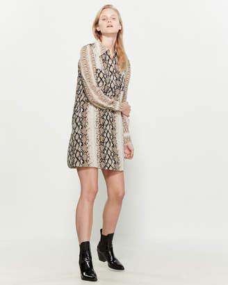 Joie Talma Snakeskin Print Mini Dress