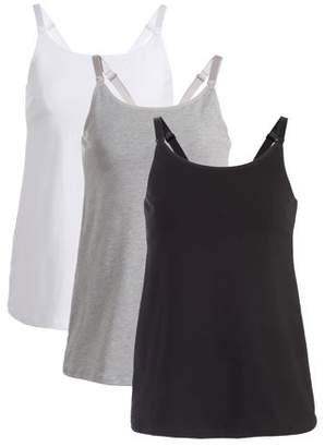 Loving Moments By Leading Lady Maternity Nursing Cami With Built-In Shelf Bra 3 Pack, Style L319