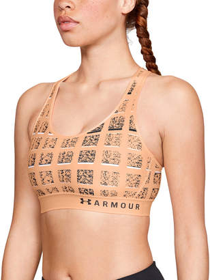 Under Armour Mid Keyhole Printed Sports Bra