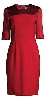 BOSS Women's Danufa Satin Trimmed Dress