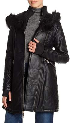 GUESS Layered Faux Leather Jacket