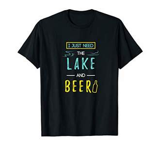 Funny Camping Shirt Men Women Just Need The Lake And Beer