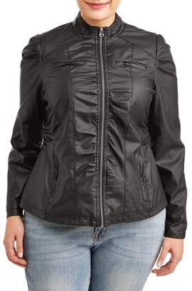 New Look Women's Plus Size Ruched Bomber Jacket