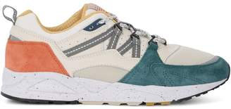 Karhu Fusion 2.0 Beige, Teal And Rust Leather And Nylon Sneaker