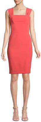 Moschino Bow-Back Sleeveless Sheath Dress