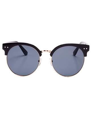 VivaLaDiva Kenzie Retro Style Black Sunglasses