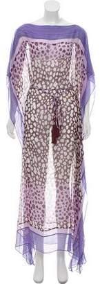 Diane von Furstenberg Silk Caftan Dress