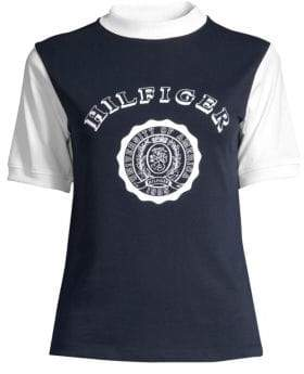 Tommy Hilfiger Tommy Tommy Women's Souvenir Logo Tee - Deep Well - Size XS