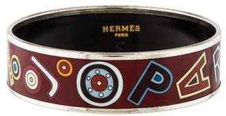 Hermes Enamel Wide Bangle
