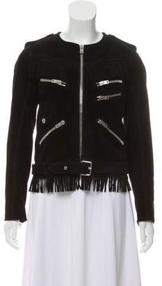 The Kooples Suede Fringe Jacket