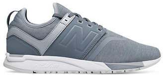 New Balance 247 Silver Mink and White Textile Shoes
