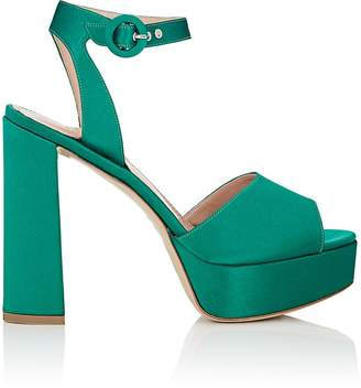 Barneys New York Women's Satin Platform Ankle-Strap Sandals