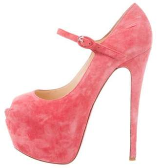 Christian Louboutin Lady Highness Suede Pumps Pink Lady Highness Suede Pumps