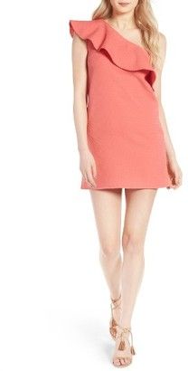 Women's Cupcakes And Cashmere Ruffle One-Shoulder Dress $105 thestylecure.com