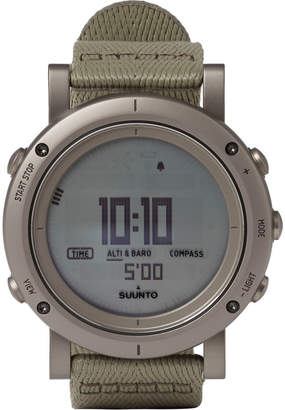 Suunto Essential Stainless Steel Digital Watch $700 thestylecure.com