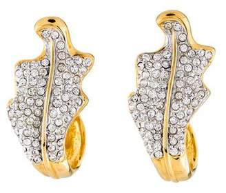Valentino Crystal Leaf Clip-On Earrings