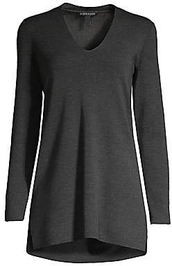 Eileen Fisher Women's Ultra-Fine Merino Wool Longline Top
