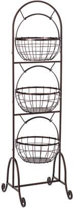 Gourmet Basics 3 Tier Wire Market Basket